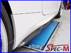 GS Carbon Fiber Extension Side Skirts Extension Lip For BMW E92 E93 M3 Only