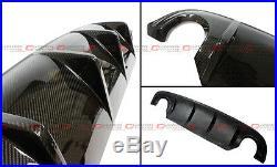 Glossy Carbon Fiber S Style Rear Bumper Diffuser For 2014-2017 Infiniti Q50 Q50s