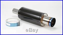 HKS JDM HI POWER CARBON FIBER TURBO 170MM / 75mm EXHAUST MUFFLER STI EVO MR2