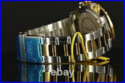 Invicta Men's Watch 22806 Aviator Black Carbon Fiber 2Tone Gold SS Bracelet NEW
