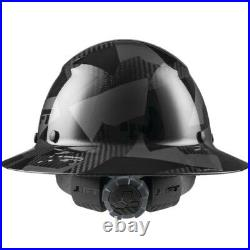 Lift Safety Dax 50/50 Carbon Fiber Full Brim Hard Hat Black Camo/ White- NEW