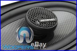 Memphis Mcx46 4x6 Carbon Fiber Coaxial 2-way Aluminum Tweeters Car Speakers New