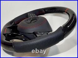 Mercedes AMG 2018 Custom Design Carbon fiber black Napa Steering wheel