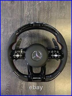 Mercedes AMG Customisable Carbon Fibre LED Steering Wheel. Will fit older models