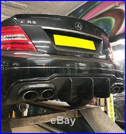 Mercedes Benz C Class W204 C63 Amg Big Fin Carbon Fibre Rear Diffuser Lip 12-14