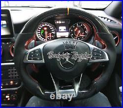 Mercedes Benz Carbon Fiber Steering Wheel cla a c glc gle w204 w205 c117 w117