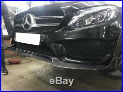 Mercedes C Class A205 C205 W205 Sport Front Bumper Lip Splitter Carbon Fibre