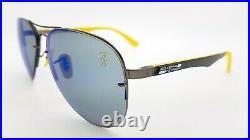 NEW Rayban Ferrari sunglasses RB3460M F003H0 Blue Polarized Aviator Carbon Fiber