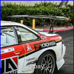 Nrg Carbon Fiber 69 Gt Racing Back/tail Spoiler/wing+adjustable Stand/blacket