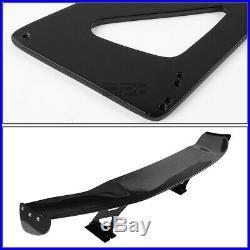 Nrg Carbon Fiber Glass 69gt Racing Spoiler/tail Wing+adjustable Alloy Blacket