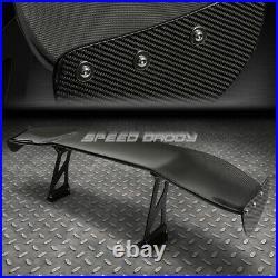 Nrg Carbon Fiber Gt Style 69 Jdm Racing Rear/back Trunk Spoiler/wing+brackets