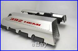 Polished Fuel Rail Covers With Red Carbon Fiber for 2015-2020 6.4 392 Engines