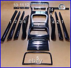 Porsche Cayenne Carbon Fiber Interior Set Kit 19 Pc 955 957 Genuine Carbon Fiber