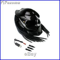 Predator Black Carbon Fiber Motorcycle Helmet Full Face Iron Warrior Man Helmets