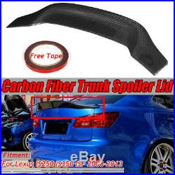 REAL Carbon Fiber HighKick Trunk Spoiler Wing For LEXUS IS250 IS350 ISF 06-13