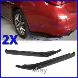 REAL Carbon Fiber Rear Bumper Side Corner Splitters For Infiniti Q50 2014-2017