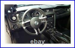 Real Carbon Fiber Dash Trim Kit for Ford Mustang 10 -14 witho navigation interior