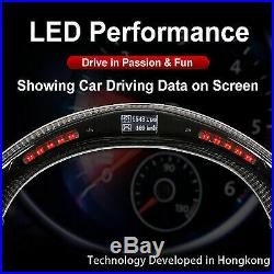 Real Carbon Fiber LED STEERING WHEEL for GOLF 7 MK7 GTI GLI GTD R line Scirocco