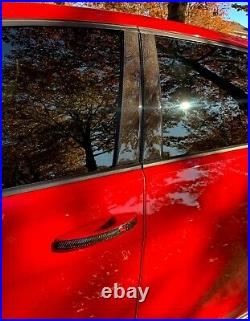 Real Carbon Fiber Window Pillar cover overlay trim Fit Volkswagen Golf GTI mk7
