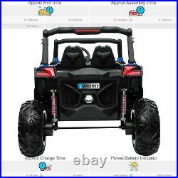 RiiRoo UTV-MX Kids Ride On Electric Buggy Quad Bike Parental Remote USB 2WD