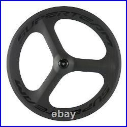 Superteam Tri Spoke Bicycle Wheel Front Tri Spoke Road Bike Carbon Fiber Wheel