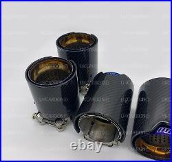 UKCARBON Gold Carbon Fibre Exhaust Tips for BMW M2 F87 M3 F80 M4 F82 F83