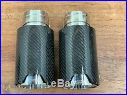 UPGRADE Carbon Fiber Exhaust Pipe Muffler Tips for BMW E90 E92 E93 F30 F32 335i