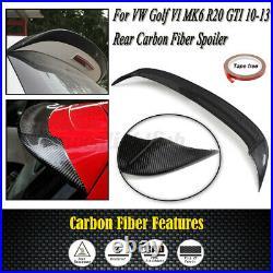 Uk Vw Golf Mk 6 R20 Gti Full Rear Roof Spoiler Real Carbon Fibre 2010-2013