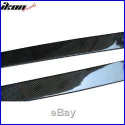 Universal 77.5 Inch Side Skirts Extension Flat Bottom Line Lip Carbon Fiber CF