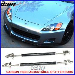 Universal RB Style 68x20inch PP Front Bumper Lip & Carbon Fiber Splitter Rod