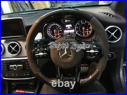 Upgrade Mercedes Benz Carbon Fiber Steering Wheel amg a45 cla w463 w204 w205 c63