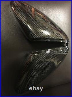 VW Golf Mk7 7.5 13-18 Gti Tdi Tsi R Real Carbon Fibre Wing Mirror Covers OEM-Fit