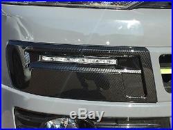VW T5 Transporter DRL Kit Daytime Running Lights LED Carbon Fiber 2010+